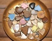 Oak Wooden Heart Keyring