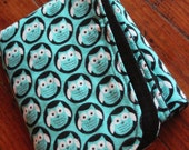 Little Owl Flannel Snuggle blanket- toddler to small child size