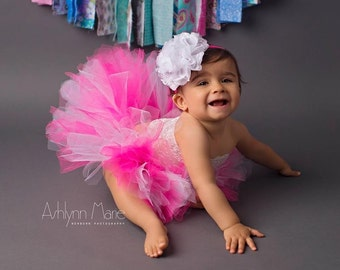 Newborn Tutu Set, Baby Tutu Set, Toddler Tutu Set, Birthday Tutu, Cake Smash Tutu Set, 1st Birthday Tutu, Hot Pink Tutu Set, Tutu, Tutu Set