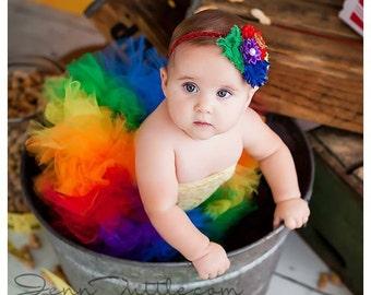 baby tutu set, baby photo prop, Rainbow Tutu Set, Tutu Set, Birthday Tutu, 1st Birthday Tutu Set, Tutu, Photo Prop, Cake Smash Tutu Set,
