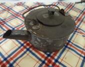 Civil War era Small tin tea or coffee pot