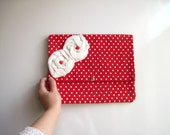 Red and White Flower iPad Case