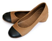 ANN. Womens shoes / ballet flats / leather ballet flats / brown leather shoes. sizes 35-43. Available in different leather colors.