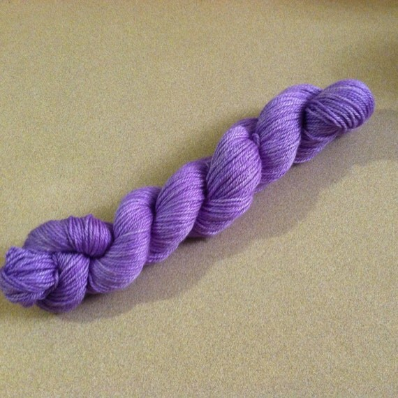 Hand Dyed Yarn : Hand Dyed Merino/Silk/Bamboo Yarn: Elaine by BakeOneLoopTwo