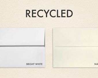A1 Invitation Envelopes w/Peel & Press (3 5/8 x 5 1/8) - 100% Recycled Collection (50 Qty.)