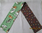 Puppy park dog print scarf with 10 favorite breeds