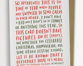Awkward Holiday Card, Funny Holiday Card by Emily McDowell Anniversary Card / No. 221-C