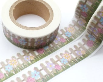 Flowers and Fence Garden Washi Tape - Z607