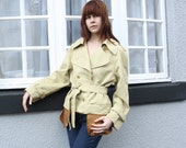 Customised Vintage Tan Mac with Bronze Pockets
