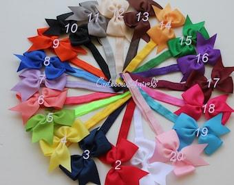 6 baby headbands - 2 dollar each - headband accessory - girls headbands - bow headband for girls - baby girl bow headbands - bow head band