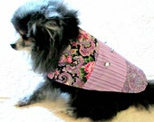 Small Dog Clothes Dress Custom Made to Fit Your Little Dog -  - Lavender, Pink, Navy & Black Cotton Pet Clothes Yorkie Poodle