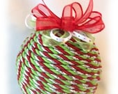 Christmas Jazz Unique Braided Cord Wrapped Ornament