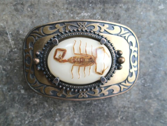 Vintage Western Scorpion Belt Buckle