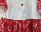 Cotton Girls Dress Size 2 to 4 TWIN and  SISTER Pioneer Prarie Dress