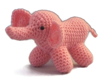 Amigurumi Elephant, Pink, Collectable, toy, elephant