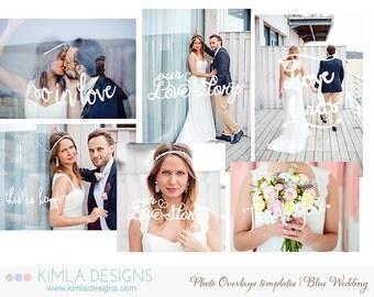 Photo Overlays Templates   Blue Wedding