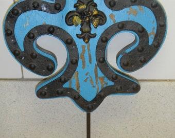 Fleur Di Lei wall hook  distressed