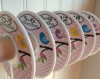 Baby Closet Dividers Girl Clothes Dividers Closet Organizers Baby Shower Gift Bird On A Branch