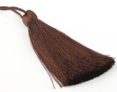 Brunette, Large and Thick Silk Tassel- Jewelry Supplies  // TAS-020