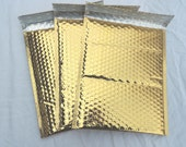 10 Gold Metallic large 8.5x12 Bubble Mailers, Size-2 Padded Self Adhesive Gold Shiny Metallic Padded Mailer Envelopes