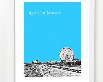 Myrtle Beach Art Print - Myrtle Beach City Skyline Poster - South Carolina