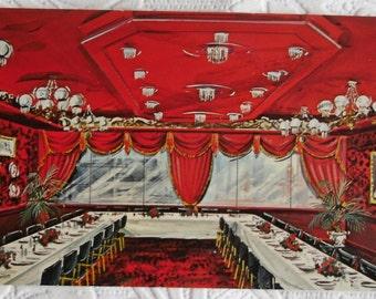 Vintage Postcard - Diamond Jim Brady Room - The Shelburne Hotel - Atlantic City, New Jersey - Superchrome Color Product Postcard 1966