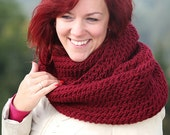 BORDO infinity scarf - bordo infinity scarf - Knitted Tube scarf - Infinity Scarf - bordo Circle Scarf - head wrapped scarf