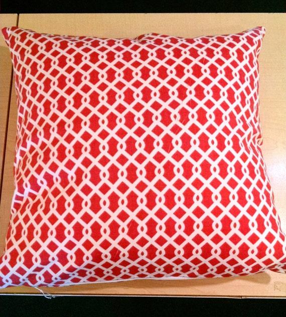 18 x 18 Pillow Cover-Waverly Trellis coral by EdwardJohnHomeDecor