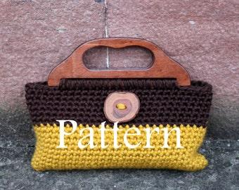 CROCHET PATTERN - Crochet purse in 2 colours - Listing119