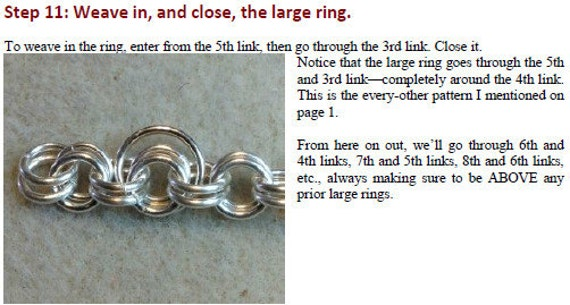 Basket Weave Chainmaille Tutorial : Chain maille viper basket bracelet photo tutorial pdf from