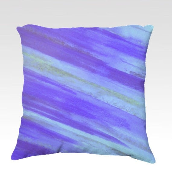 Throw Pillows Royal Blue : WASHED UP - Royal Blue Decorative Velveteen Throw Pillow 18