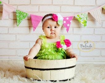 petti lace romper..lime green lace romper..girls lime green lace romper..baby girls romper..lime green romper..lace rompers..lime romper