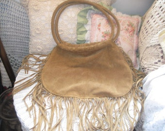 Nice Suede Leather Hand Bag  :)