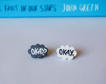 Okay. Okay. TFiOS Inspired Earpost Earrings.