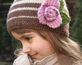 Julia Beanie Hat - Knitting pattern - Toddler, Child and Adult sizes - pdf format / eBook