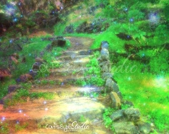 FAIRY FOREST PATH Art Print