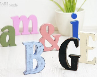 Wooden Letters Home decor Wall decor Shelf decor Shabby chic
