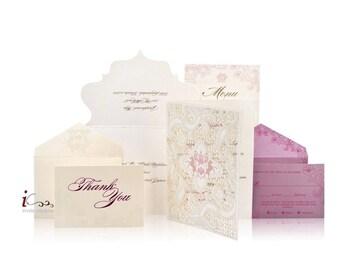 Custom Lasercut Luxury Wedding invitations - Die Cut Wedding Invitations -  Custom Luxury Invitations - Lasercut Invitations
