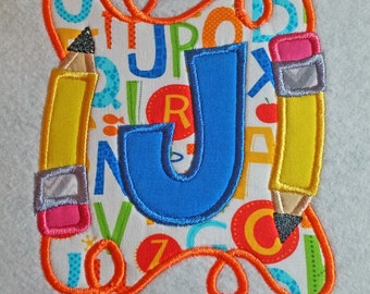 School Letters Applique Toddler Shirt