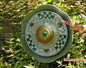 Repurposed Garden Glass Flower / Garden Yard Art Sculpture / Outdoor Garden Decor / Upcycled Suncatcher