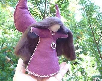 Wool Felt  Angel, Handmade Hanging Angel, Art Doll