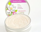 Sexy Vanilla Whipped Body Butter - Organic Shea Butter, Argan & Jojoba Oils with Vanilla Oleoresin