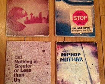 Street Graffiti Coasters, Set of 4