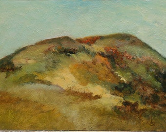 "Landscape California hills 9""x12"" oil painting on hardboard Jan Smiley"