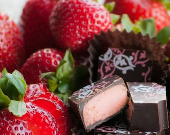Strawberry Balsamic Truffles