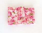 ID Wallet Business Card CF Holder Slim Thin Pretty Pink Roses