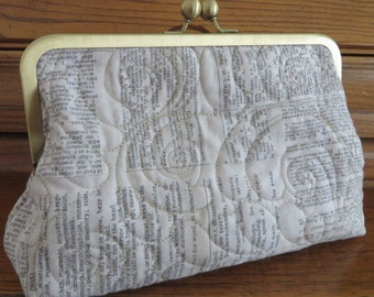 "Quilted Clutch, Limited Edition 8"" X 3"" frame"