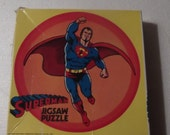 Vintage superman jigsaw puzzle 81 pieces, complete, in good condition with box from 1970, great movie prop