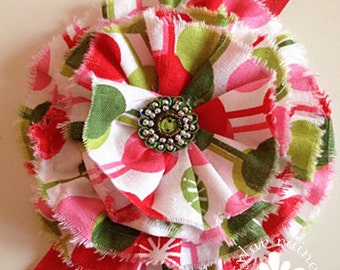 Green & Red Headband - Christmas headband -  Fits Girls to adults  - Boutique style - Photo Prop
