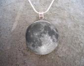 Full Moon Jewelry - Glass Pendant Necklace - Astronomy Jewellery